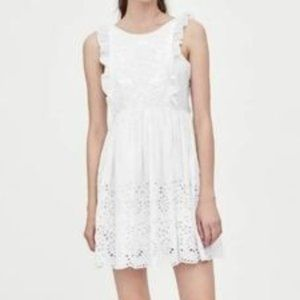 Zara | trf White Embroidered Dress Size Small